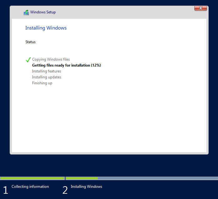 Installing Windows Server 2016 08