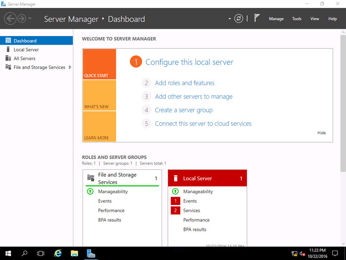 Installing Windows Server 2016 14