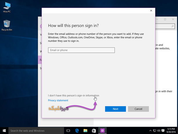 login with local account in windows 10 05