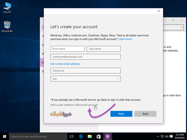 login with local account in windows 10 06